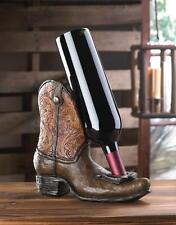 Western Boot Wine Bottle Holder Countertop Tabletop Bar Den Home Decor 10016833