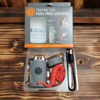 UST Gray TEKFIRE Fuel Free Lighter USB Rechargeable Camping Hiking 20-12425