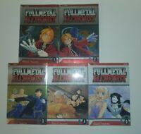 FullMetal Alchemist manga Hiromu Arakawa Viz (Lot of 5: Vol 1-5) Brand New