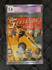 Sensation Comics #13 • DC Comics 1943 • Wonder Woman • CGC 3.0 C-1