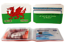 Wales Welsh Flag Bus Pass Credit Travel Rail Slim Wallet for Oyster Card