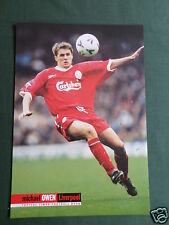 MICHAEL OWEN - LIVERPOOL PLAYER - 1 PAGE PICTURE - CLIPPING /CUTTING