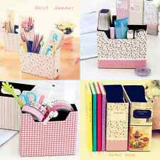 DIY Makeup Cosmetic Stationery Paper Board Storage Collection Box Bag Cute