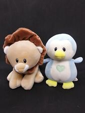 Ty Baby Twinkles & Bouncer set of 2 plush animals lion & penguin