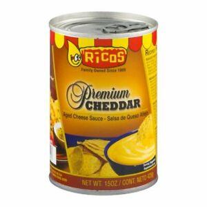 Ricos Premium Cheddar Aged Cheddar Cheese Sauce 15 oz Can