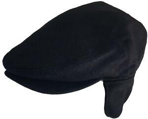 Wool Blend Ivy Cap with Ear Flaps Winter Newsboy Driver Hat Earflaps Scally Jeff