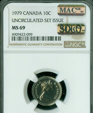 1979 CANADA 10 CENTS NGC MS-69 PQ MAC SOLO FINEST GRADE SPOTLESS *