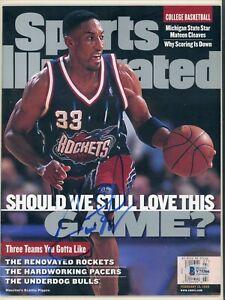 Scottie Pippen No Label Sports Illustrated Magazine signed autographed BAS COA