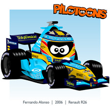 Print on Canvas Renault R26 2006 #1 Fernando Alonso by BM