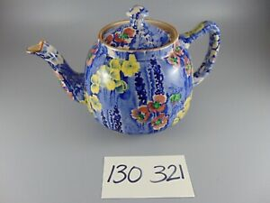 VINTAGE DELPHINIUM CHINTZ TEAPOT ELLGREAVE POTTERY 1930's MADE IN ENGLAND