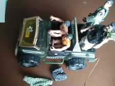 VINTAGE ACTION MAN JEEP VEHICLE With Four Action Men.