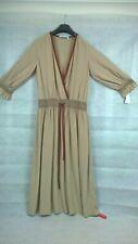 Agnona 100% Silk Brown Dress Size 40