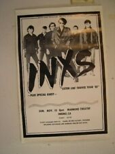 Inxs 1985 Fresno CA Tour Poster Band Concert Old