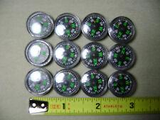 12x 20mm Button Compasses (NEW) EDC BOB Survival Prepper USA Seller