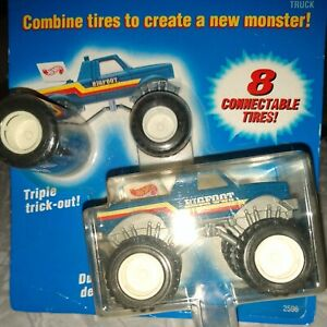 Hot Wheels Fat Tracks -  Mini-BIGFOOT Champions Truck - On Card.with 8 tires.