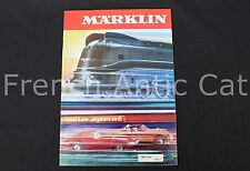 D929 Rare catalogue train Marklin Märklin Ho 1970 F 74 pages construction Neuf