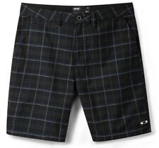 Oakley ALTERNATOR Shorts Jet Black Size 32 Mens Golf Plaid Walkshort Walkshorts