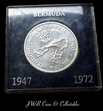 1972 Bermuda Silver Wedding Silver $1 One Dollar Coin