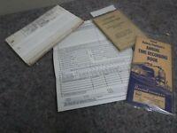 Lot of Vintage RR Railroad Ephemera-Booklets & Diagrams