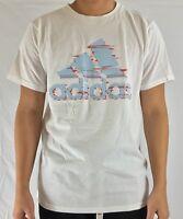 Adidas Men's Shirt The Go To Tee Cotton Shirt White Red Blue BU3455 Size S