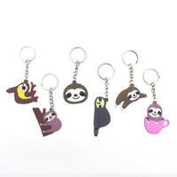 Cartoon Animal Sloth Car Keychain Womens Backpack Bag Decor Children Gifts