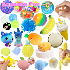 Colorful DNA Stress Ball Squishy Exercise Hand Toys Stress Relief Fidget Squeeze