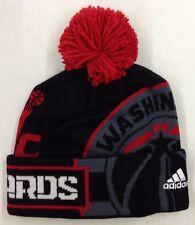 c07f6836cdd NBA Washington Wizards Adidas Cuffed Pom Knit Hat Cap Beanie Style  KX01Z  NEW!
