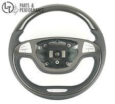 LE TEF® Echt Carbon Leder Lenkrad für Mercedes Benz W222 S Klasse auch AMG