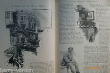 Night with Thames River Boat Police Wapping Rare Antique Victorian Article 1891