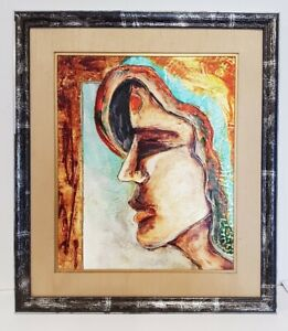"""Framed Vintage Oil Painting Of """"Portrait of Woman""""."""