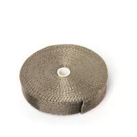 "1"" × 15m Hitzeschutz Band Basalt 1400°C Auspuff Krümmer Titan Turbo Heat Wrap"