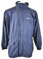 BERGHAUS Mens Rain Jacket Size 44 2XL Navy Blue Nylon GL01