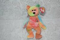 Peace Bear Beanie Baby EXTREMELY RARE All Errors Colorful TY Collectible
