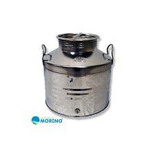 4964 - Deposito de acero inoxidable con asas tapa con rosca y grifo 30 litros
