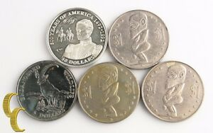 1973 1991 1993 Cook Islands $1 $5 $50 Coins (5pc) Dong Dollar KM-7 223 248