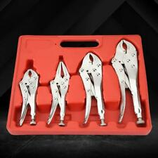 Locking Pliers Set 5/6/6.5/10'' Lock Wrench Set 4pc For Clamp Turn Screw
