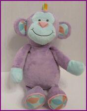 "Manhattan Toy Purple Teal Monkey Soft Stuffed Lovey Plush Pink Peach 14"" 2014"