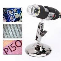 USB 8 LED 50X-500X 2MP Digital Microscope Endoscope Magnifier Video Camera