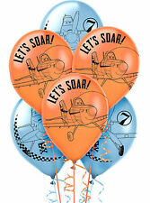 "DISNEY PLANES PARTY SUPPLIES 12"" LATEX HELIUM QUALITY 6 BALLOONS"