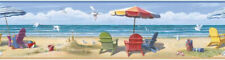 Summer at the Beach Wall Paper Border Chesapeake Wallcovering CT46091B