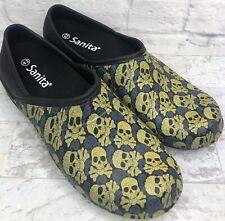 Sanita Skull And Crossbones Rubber Clogs Size 43 W 12 M 9 Comfort Non Slip