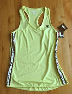 NWT FILA Sport Tru-Dry racerback workout running sport stretch top (XL) LIME YEL