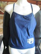 Navy Blue Speedo 12 Life Guard Tankini Bathing Suit Top Nylon Spandex Pre Owned