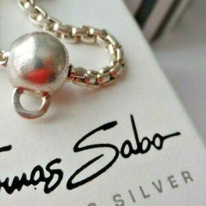 Genuine THOMAS SABO Karma Silver Charm Carrier Bead