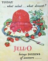 Vintage JELLO Cookbook 1920s Advertising Jell-O Recipe Booklet Gelatin Desserts