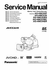 Panasonic AG-HMC80 HMC81 HMC82 HMC83 HMC84 Service Manual & Repair Guide