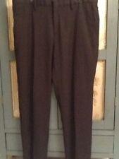 Saks Fifth Avenue Men Sz 34x30 Black Dress Pants Flat Front Straight Leg Preown