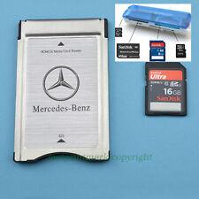 Pcmcia Zu SD SDHC Karte Adapter Für Mercedes-Benz + 16G + Lesegerät Hunderte