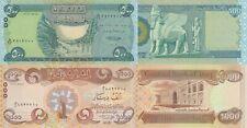 Iraq 2 Note Set - 500 & 1000 Dinars (2018) p98-New/p99-New UNC