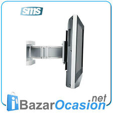 Soporte Pared TV, Monitor, LCD SMS Flatscreen WL 3D Drag & Drop Aluminio 15 kg